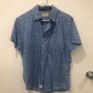 Blue Floral Button Up